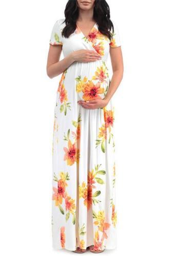 Maternity Printed Maxi Dress