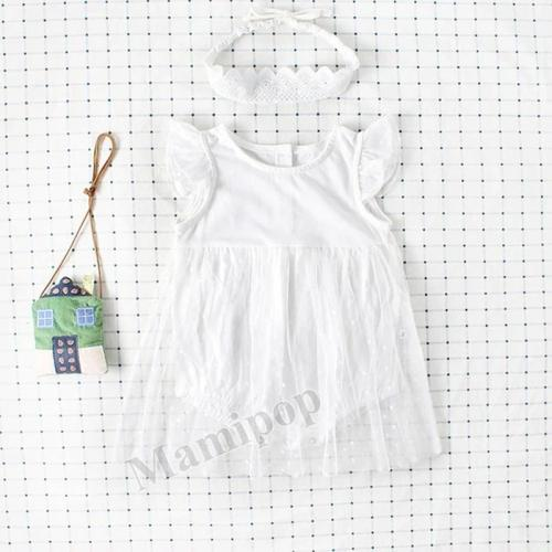 Baby Baby's Princess's Flying Sleeve Mesh Skirt Crawling Suit Harbin Skirt