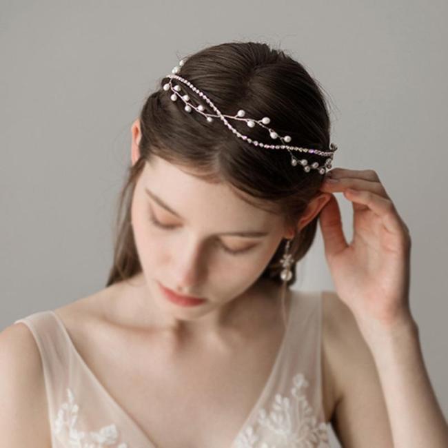 Women's Beautiful Pearl Wedding Headdress