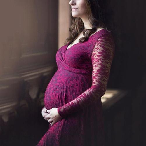 Lace Mopping Maternity Dress