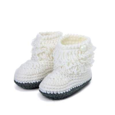 Amazing Baby Girls Crochet Handmade Knit High-top Tall Boots Shoes (4 Colors)