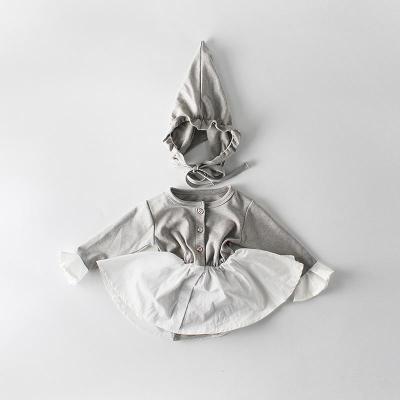 2020 Spring Girl's Horn Long-Sleeve Cotton Cloth