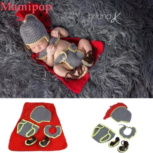 Knight Design Newborn Crochet Knit Costume