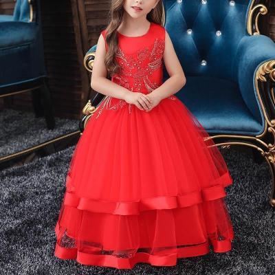 Diamante Mesh Princess Evening Dress