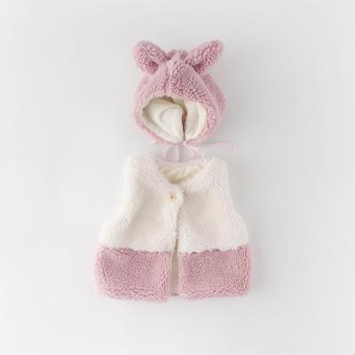 Winter New Sweet Solid Color Warm Wild baby 0-2 Years old Cardigan Velvet Vest jacket