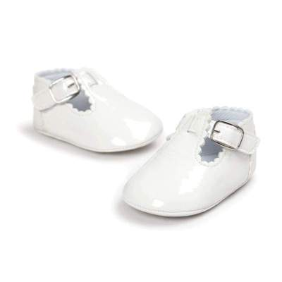 Baby Moccasin Newborn Shoes Soft Faux Leather