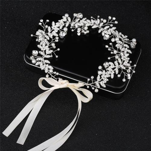 Alloy Diamond Pearl Headband Accessories
