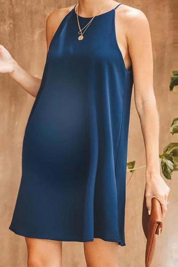 Maternity Pure Color Off Shoulder Dress