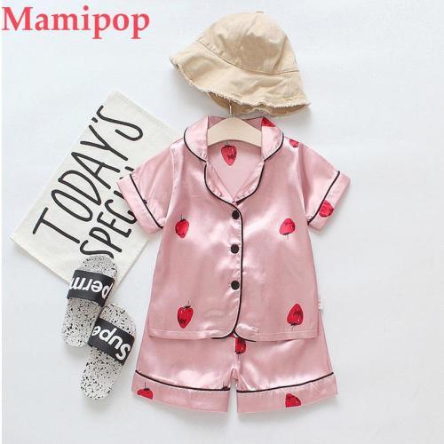 Cartoon Pajamas Sleepwear T shirt Shorts roupas infantil menino