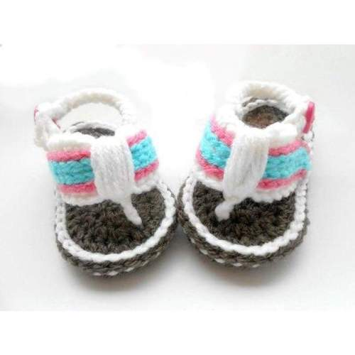 Crochet Flip Flops Baby Shoes