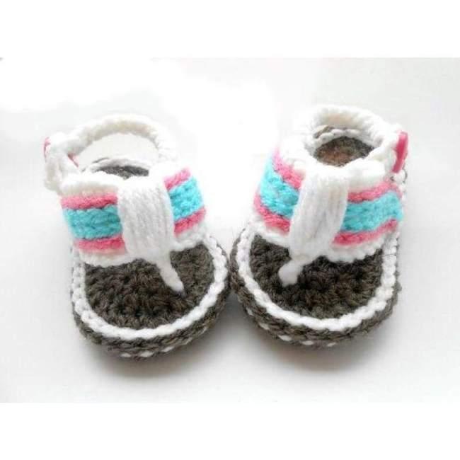 Crochet Flip Flops Baby Shoes