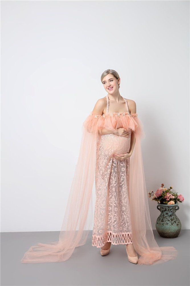 Pregnancy Romantic Fairy Voile Maxi Dresses