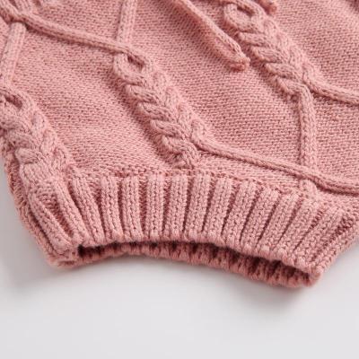 2020 Children's Wear Knitted Twist Waistcoat Cardigan Tie Knitted Shorts Children's Suit