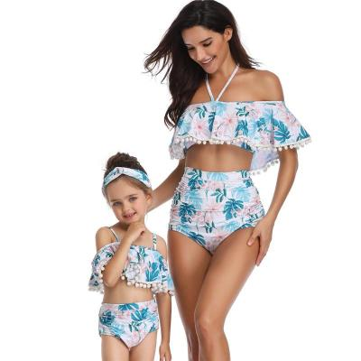 2020 Parent Swimsuit Printed High Waist Bikini