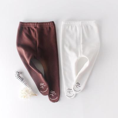 Autumn and Winter Clothes Baby Cute Head Plus Velvet Bottom Pantyhose