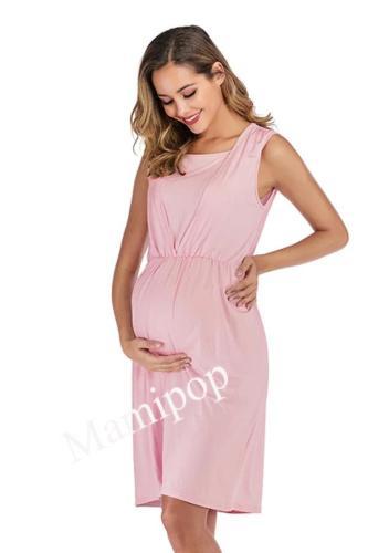 Sleeveless Round-neck Edud Pregnant Dress