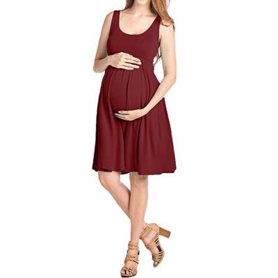 Maternity Knee-Length Tank Dress