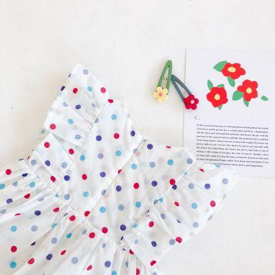 2020 Summer Girl baby Dot ha-shirt Baby Cotton  Skirt Jumpsuit
