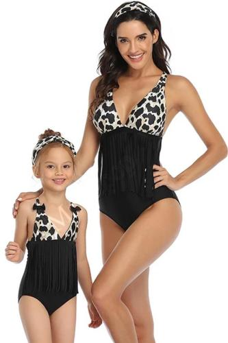 2020 New Parent-Child Swimsuit Tassel Fashion Swimsuit