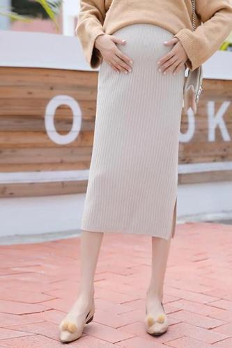 Maternity Long Wool Skirt