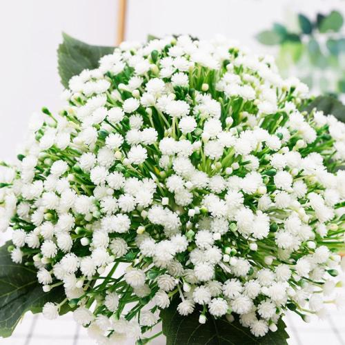 Brisk holding flowers decorative flowers plastic gypsophila headwear
