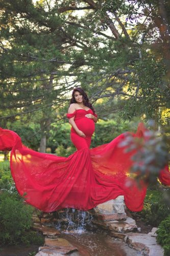 Off The Shoulder Pregnant Dresses For Women Maxi Maternity Gown