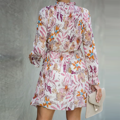Maternity Fashion Floral Printed Long Sleeve Dress