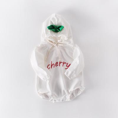 Newborns Long-sleeved clothes Hooded Conjoined Fruits and Clothes