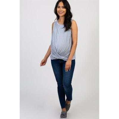 New Casual T-shirt for Pregnant Women with Sleeveless Folds in Summer 2020