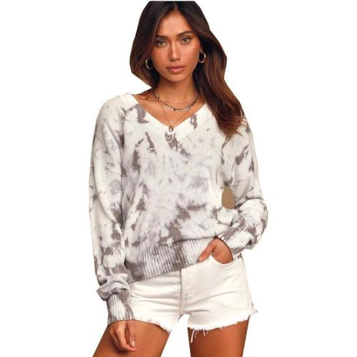 Winter And Fall New Style Loose Tie Dye Sweater