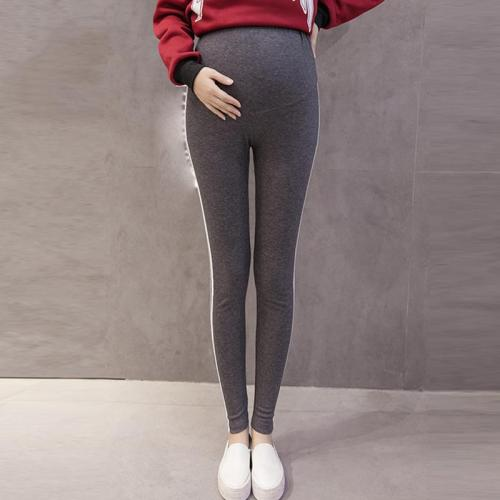 Maternity Casual Prop Belly Striped Pants