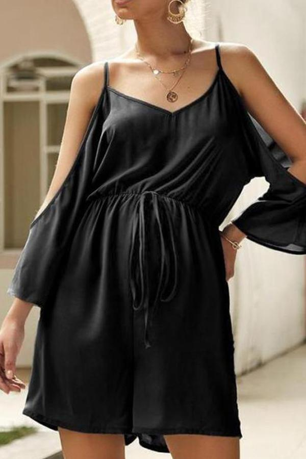 Maternity Strapless One-Piece Shorts