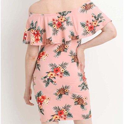 Maternity One-Shoulder Printed Dress