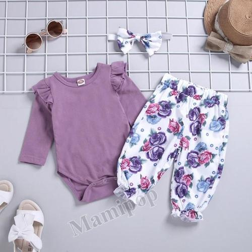 Children's Clothing  Girls Romper Pants Set