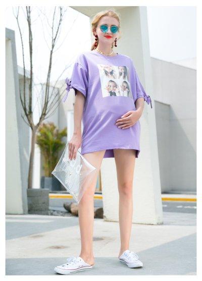 Summer Pregnant T-shirt Casual Maternity Shirt
