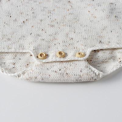 Baby Children Geometric Brace Knitting Wool One-piece Clothes
