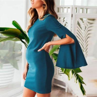Maternity New Trumpet Sleeve Dress