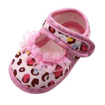 Fashion Newborn Baby Girls Leopard Print Prewalker Soft Sole Single Shoes