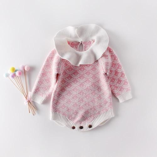 Girls' Baby Knitting Wool Jumpsuit Climb Clothes