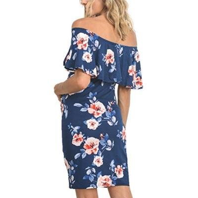 Maternity Floral Print Bodycon Dress