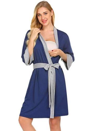 New Maternity Nursing Robe Pregnant Women  Maternity Pajamas
