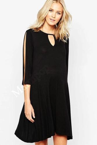 Maternity Women Dress Summer Half Slit Sleeve O-neck Knee Length Dress