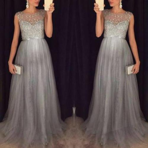 Maternity Chiffon Sequins Photoshoot Gowns