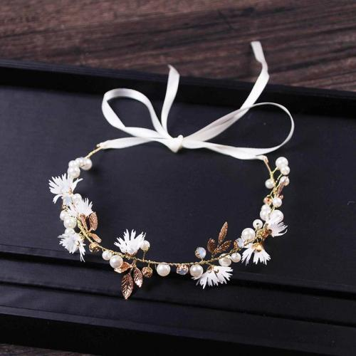 Simple Small Daisy Crystal Twisted Bead Hair Accessories Headwear