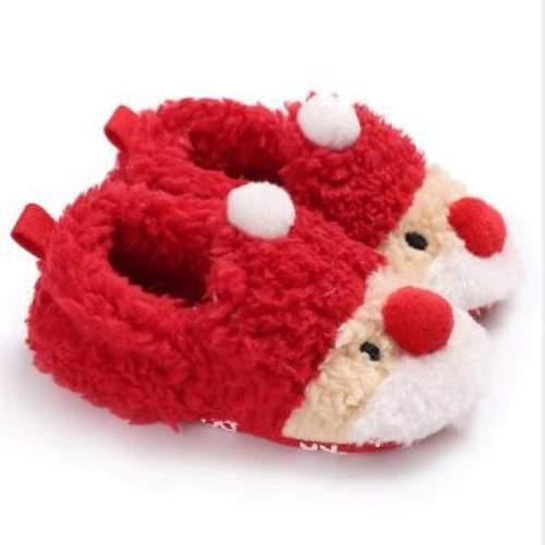 Toddler Kids Girls Christmas Snow Boot Shoes Xmas Gifts Soft Sole Newborn Baby Girl Crochet Winter Warm Prewalker Mocassins