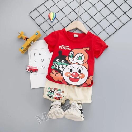 2020 Summer New Children's Short Sleeve Suit Korean Summer  Two Piece Set
