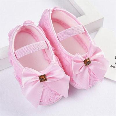 Baby Toddler Shoes Infant Flower Soft Sole Kid Girls Boy Baby  Rose Bowknot Elastic Band Crib Shoes
