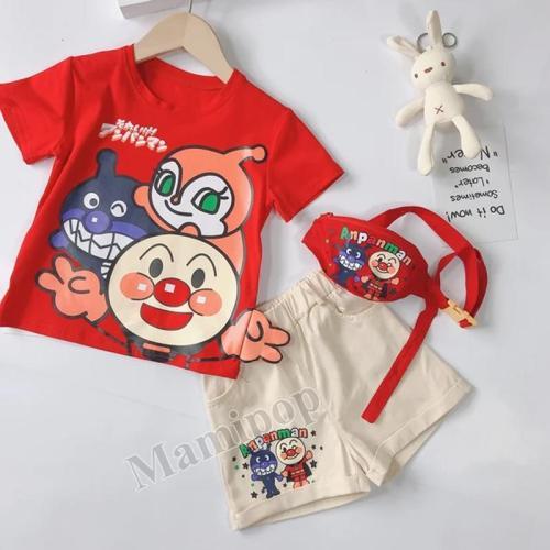 Baby Cartoon Superman Short Sleeve T Shirt Shorts Three Sets