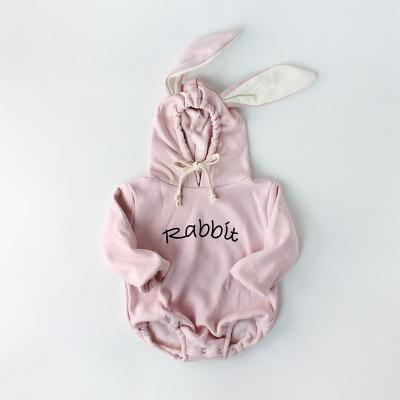 Winter Baby Rabbit Ears Baby Newborn Clothes Hooded Jumpsuit