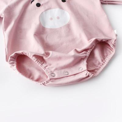 Long-sleeved clothes hooded jumpsuits for newborns in autumn 2020
